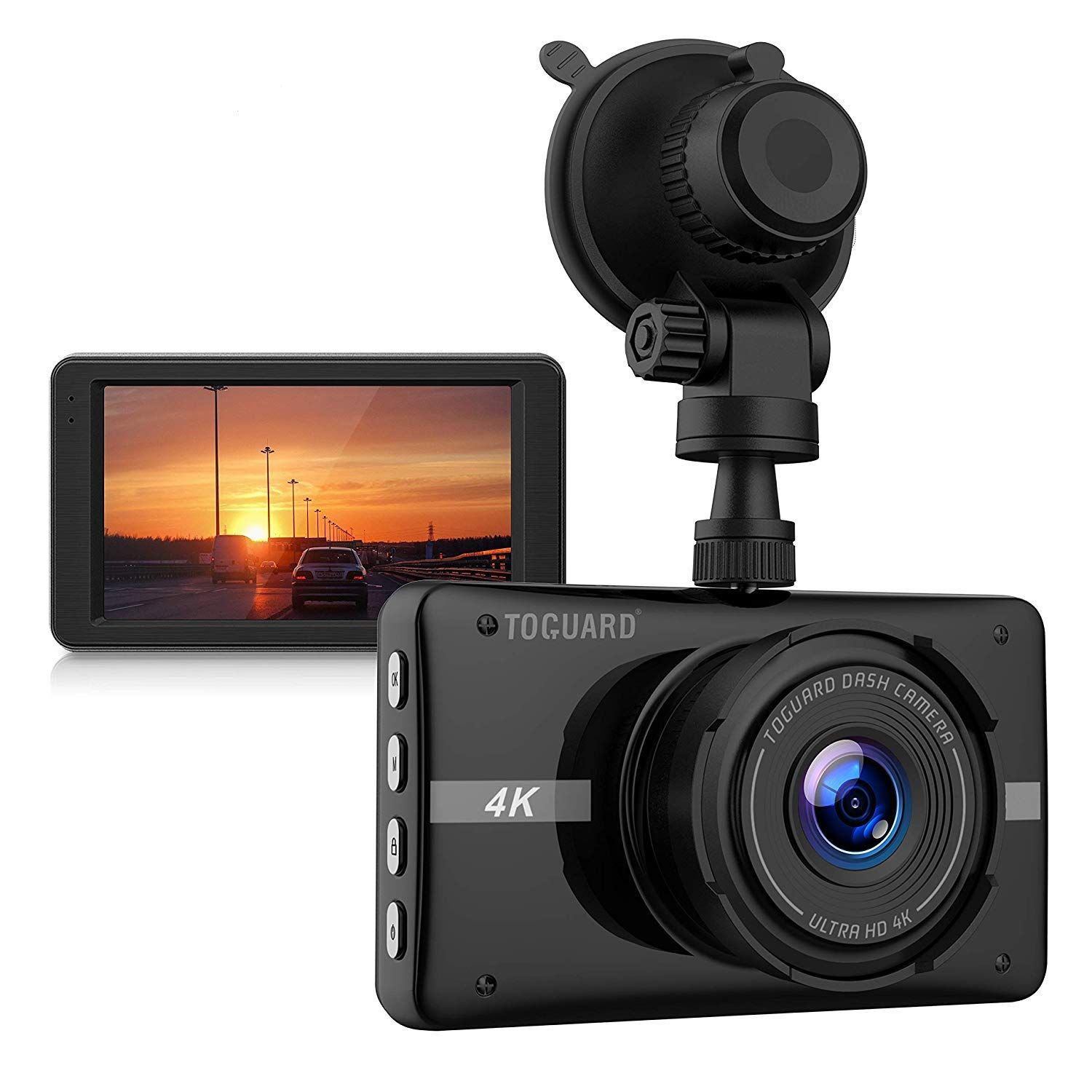 4K Dash Cam Ultra HD Car Dash Camera 3'' LCD 170° Wide Angle | Dash camera, Dashcam, Dashboard camera