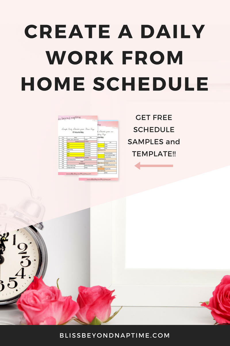 how to create your daily work from home schedule stay organized as