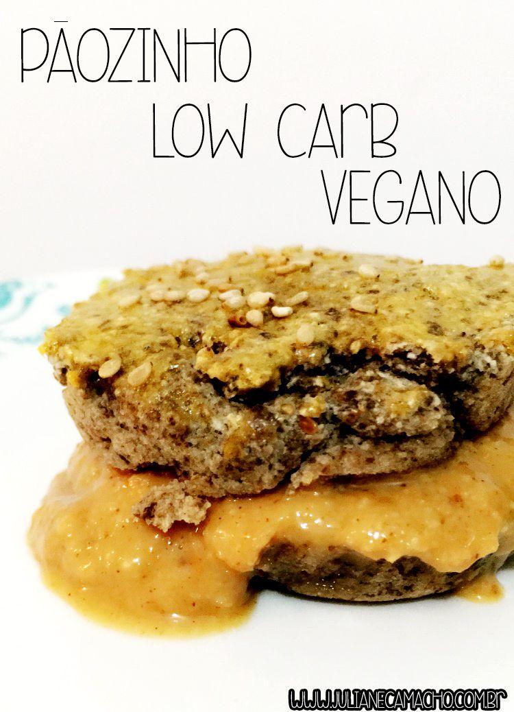 Um Pãozinho Low carb  vegano e gluten free, perfeito pra fazer dieta sem deixar de comer um pãozinho quente.