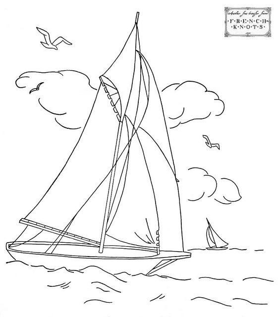sailboat | La tempestad, Bordado y Dibujo