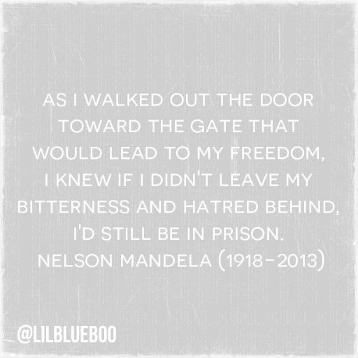 As I walked out the door.... nelson mandela quote via