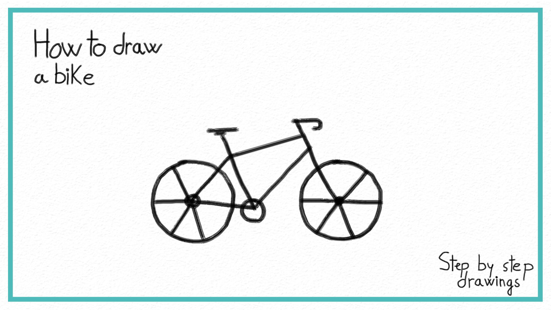 How To Draw A Bike In 7 Steps Easy Drawings Bike