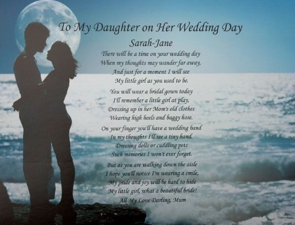 Image result for poem from mother to daughter on wedding day ...