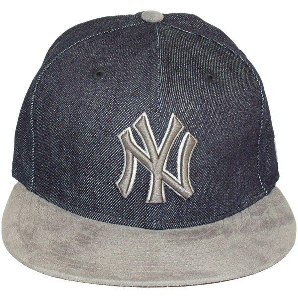 CASQUETTE SNAPBACK NEW ERA - 9FIFTY MLB DENIM SUEDE - NEW YORK YANKEES 08a48c99196
