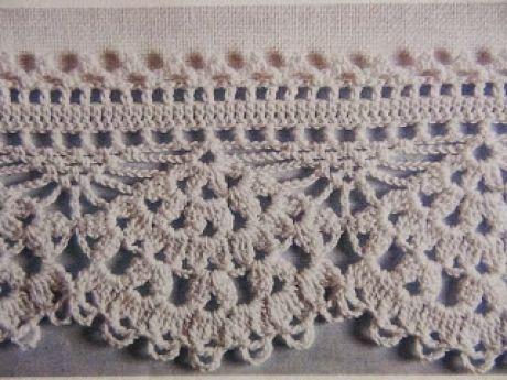 Barrados de Croche: Barrado de Leque | Mariaje | Pinterest | Puntos