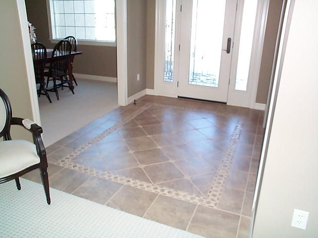 Entry way tile pattern ideas universal home builders for Entrance flooring ideas