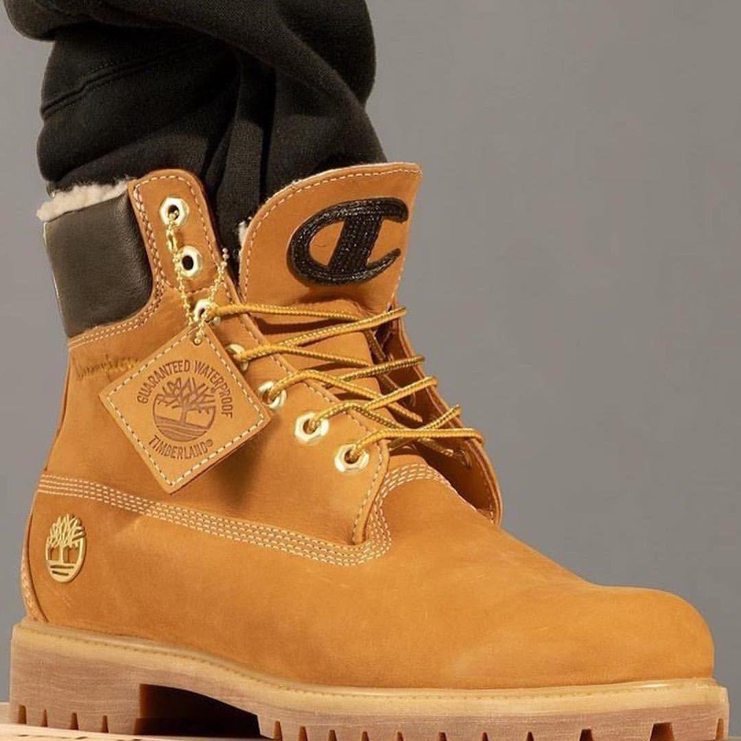 """Champion x Timberland 6"""" Shearling Boots """"Wheat"""