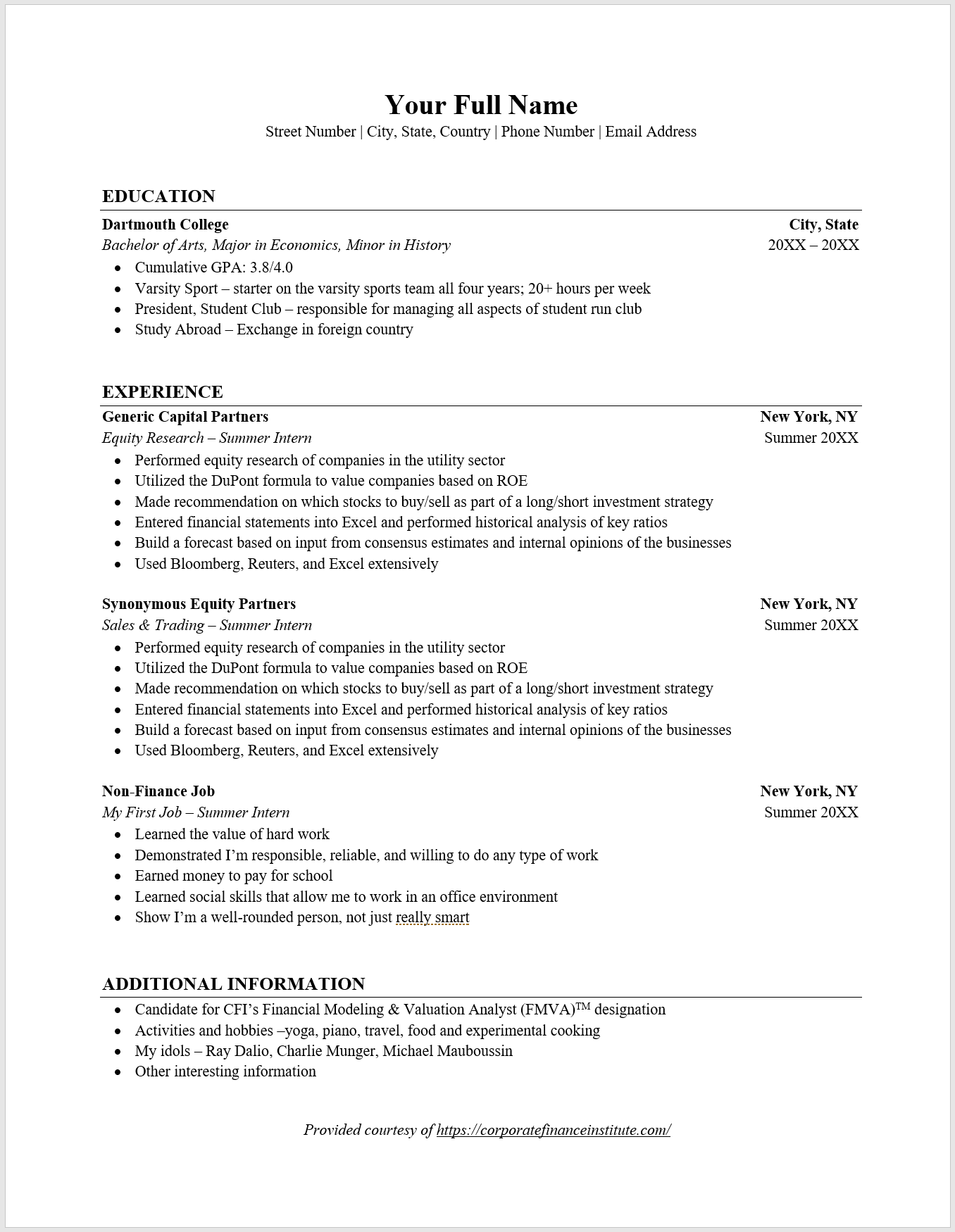 Free Resume Templates Overview, Main Types, How to