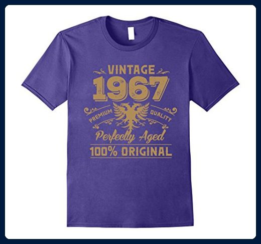 Mens Vintage Perfectly Aged 1967 Birthday Gift For 50 Years Old 2XL Purple
