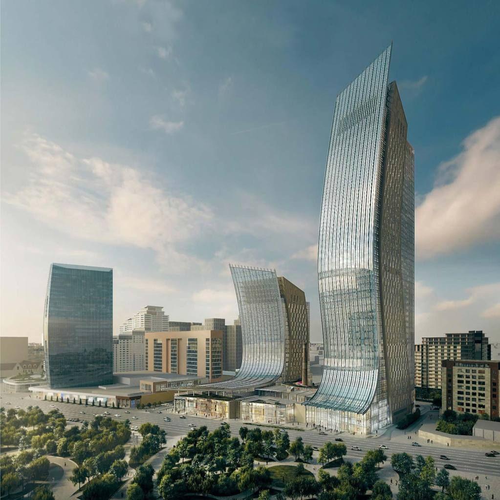 Baku Port Baku Towers 2 251m 48 Fl 22 Fl Prep Skyscrapercity Architecture Design Architecture Skyscraper