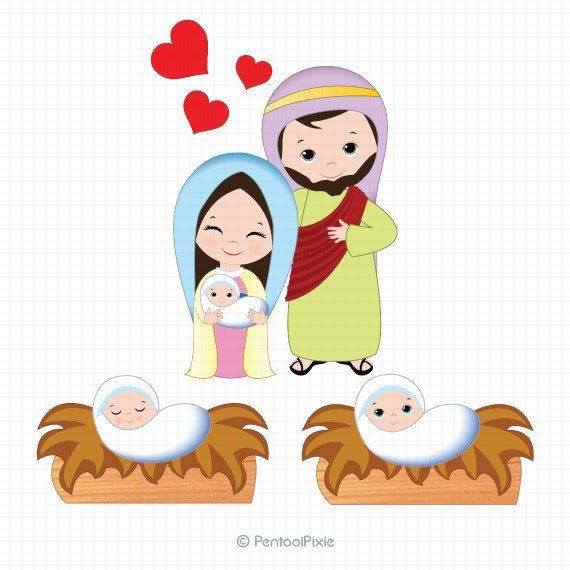 nativity clipart nativity clip art christmas clipart jesus mary rh pinterest com clip art jesus miracles clip art jesus with children