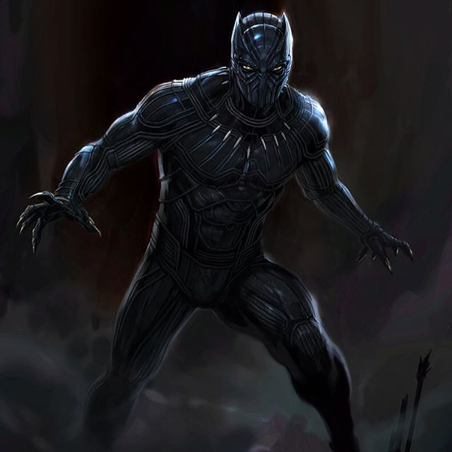 An early concept design I got to paint of #BlackPanther for…