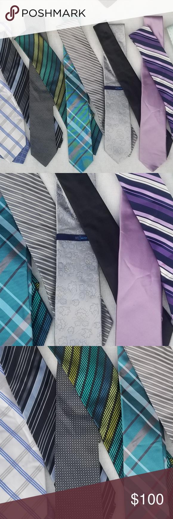 Men's Designer Silk Tie Lot (16 Ties ) Men's Designer Silk