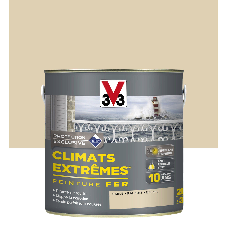 Peinture Fer Extérieur Climats Extrêmes V33 Sable 2 L