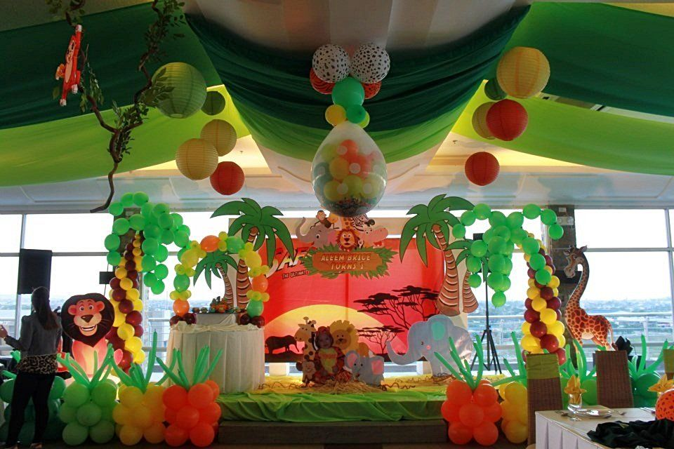 Lovely Jungle Theme Birthday Party Decoration Ideas Part - 6: Safari Decorations For Party