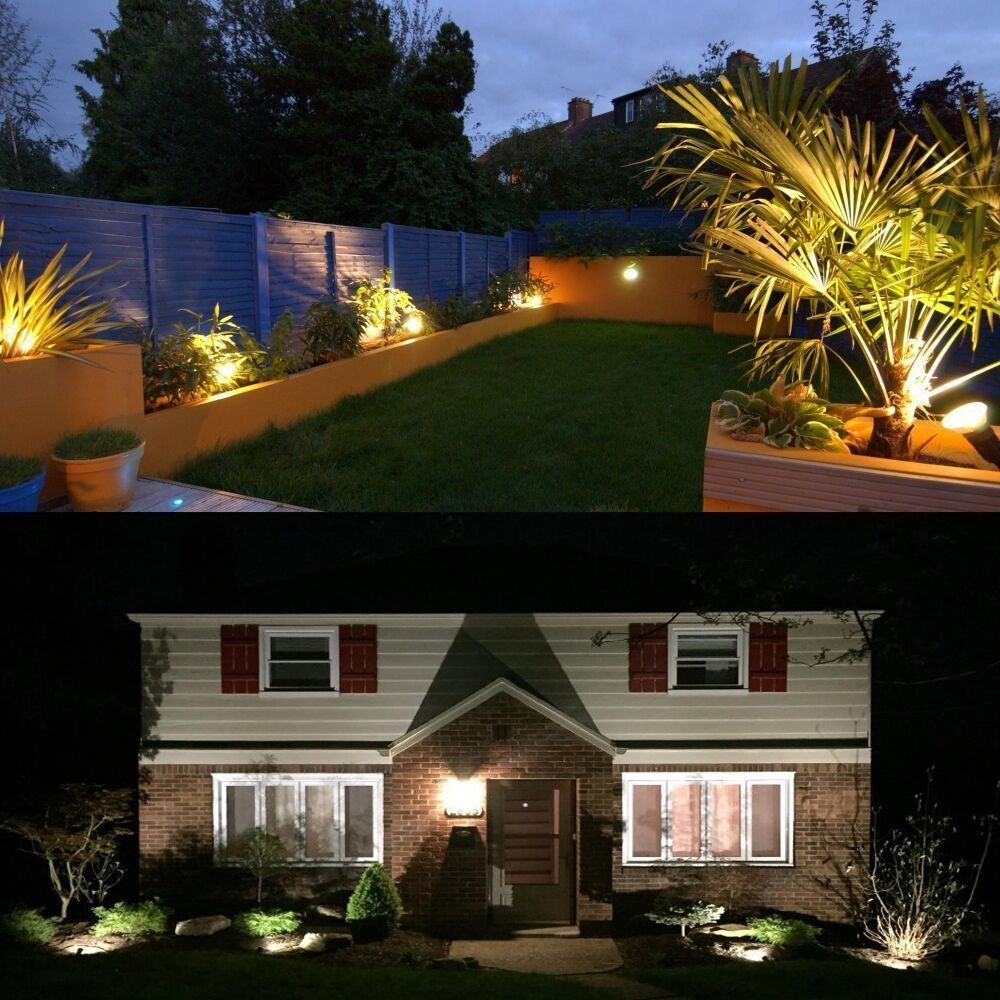 Hypergiant 12w Led Landscape Lights Low Voltage Ac Dc 12v Or Dc 24v Waterproof Garden Yard Path Lights Super Warm White 850lm Walls Trees Flags Outdoor Spotl Led Landscape Lighting Led Outdoor Landscape