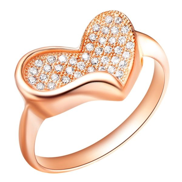 Find More Rings Information about Heart Women Rings Clear CZ Diamond