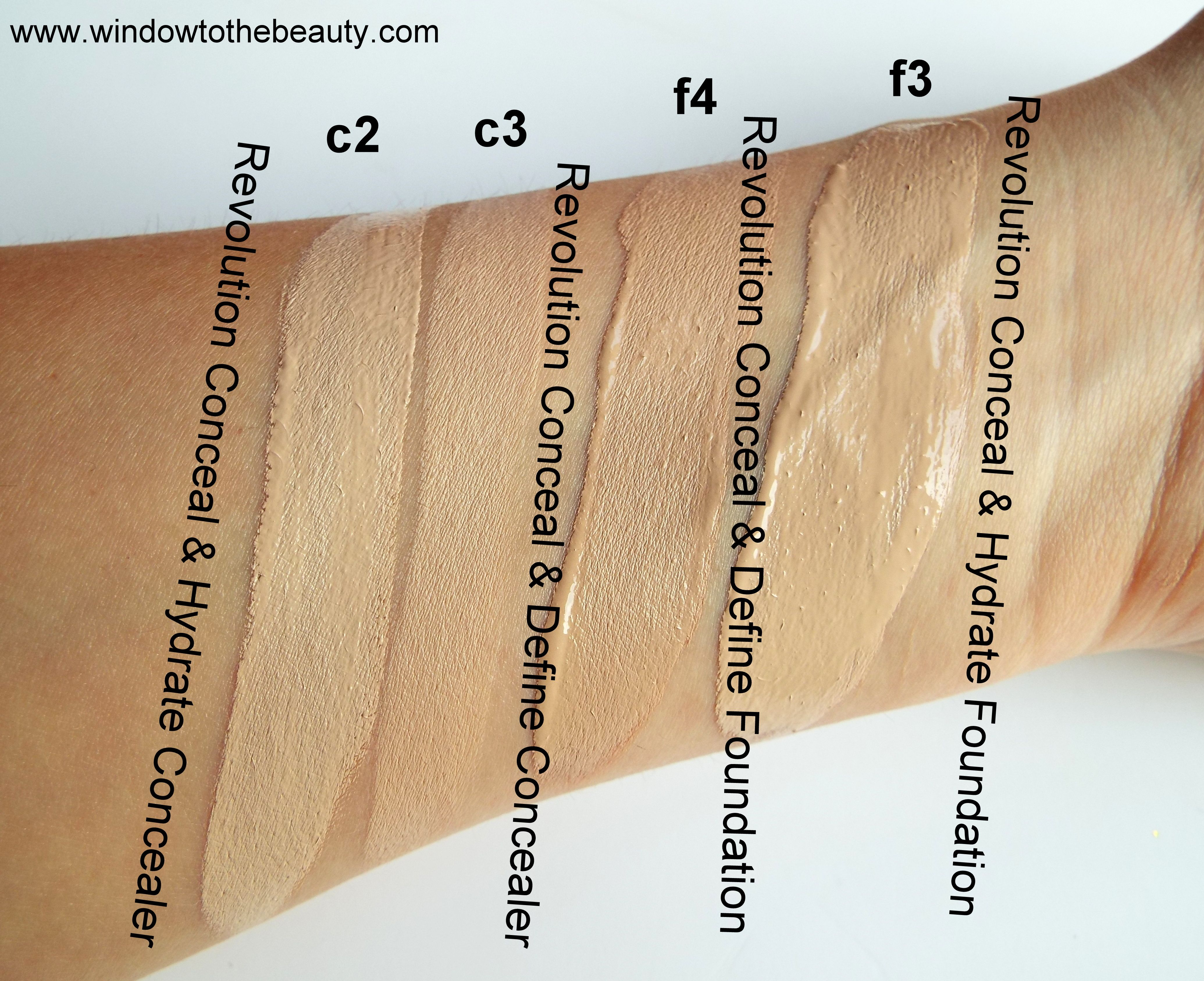 Revolution Conceal & Hydrate Foundation Review & Swatches