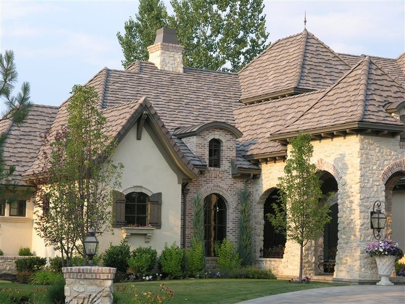 Stucco And Brick Exterior vintage modifed #392 yorkshire slate. love the brick, stone and