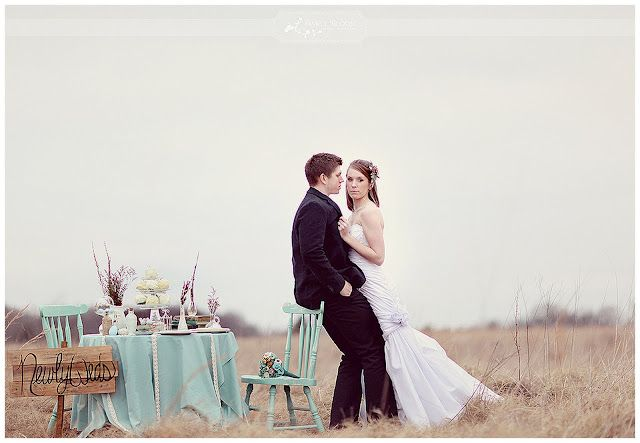 Vintage style, duck egg blue theme - a lovely and different theme colour!