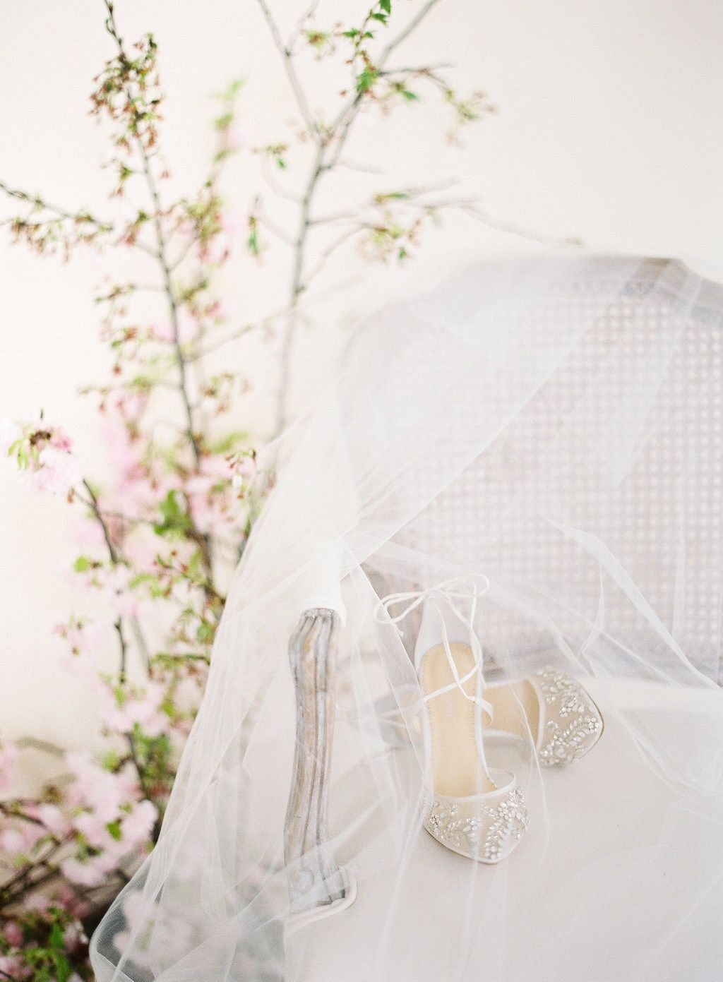 1785017350f Angelic Cherry Blossom Spring Bridal Look
