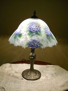 Reverse Hand Painted Lamp Glynda Turley 1999 Painting Lamps