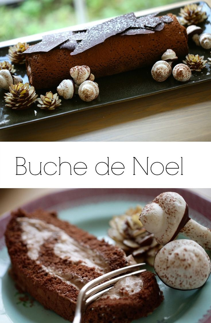 Christmas Desserts Pinterest.Buche De Noel