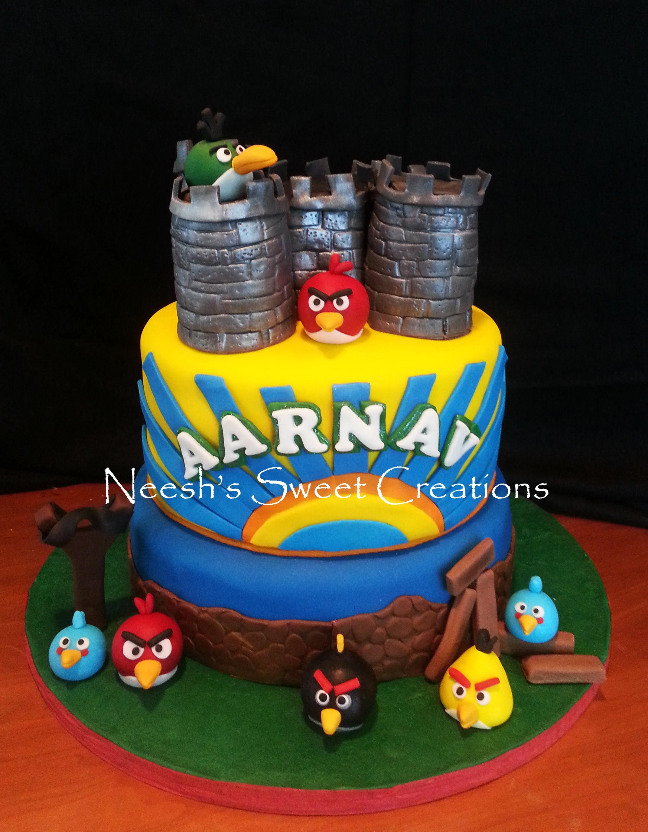 Angry Birds Cake For A 4 Year Old Boy Who Loves Bright Colors