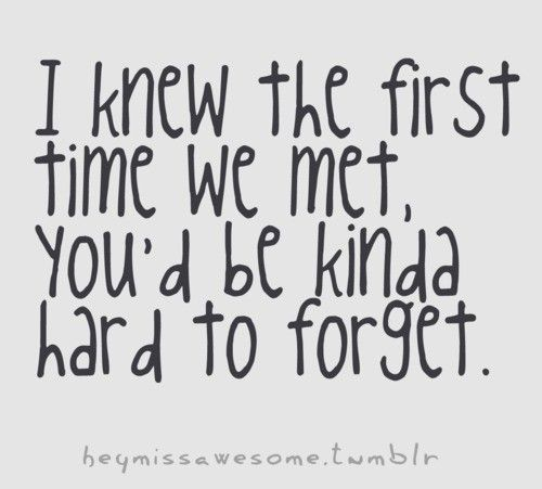 Love Quotes About Meeting Someone For The First Time