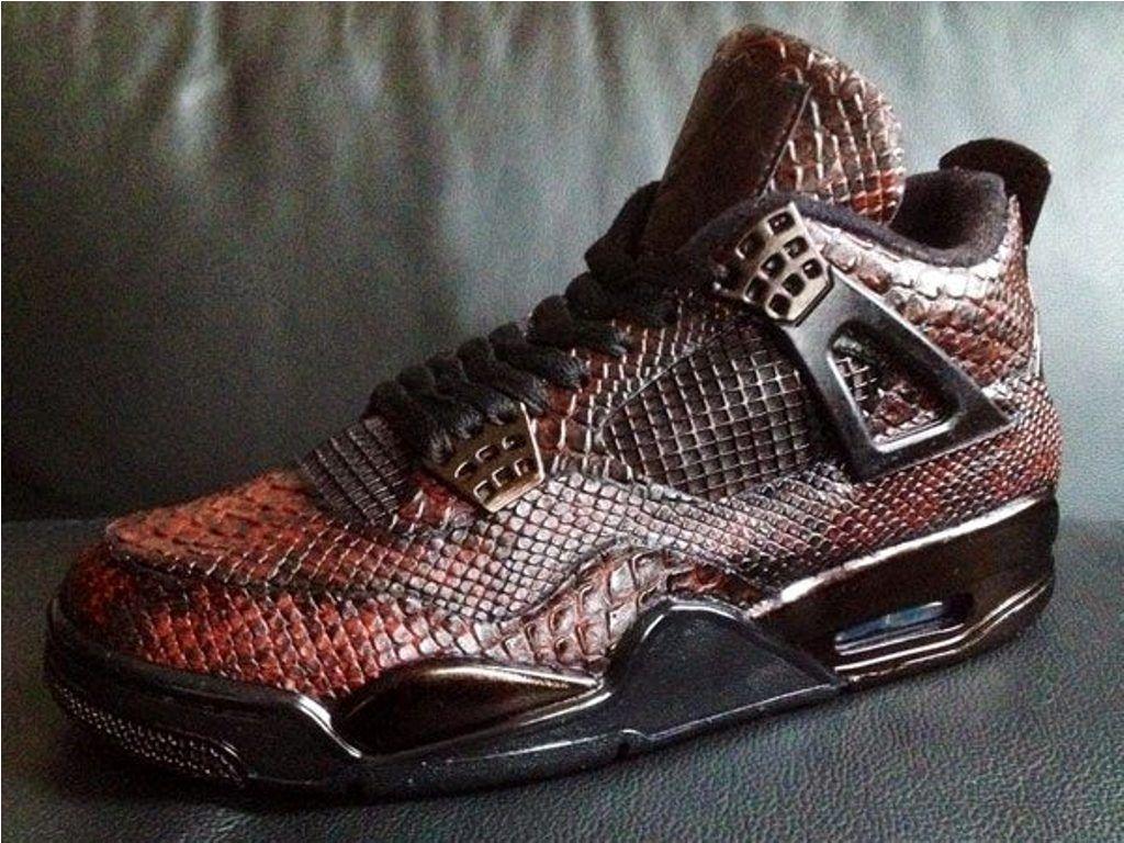 new style 55709 48ec5 Snake skin Air Jordan 4 | Air Jordan in 2019 | Sneakers nike ...