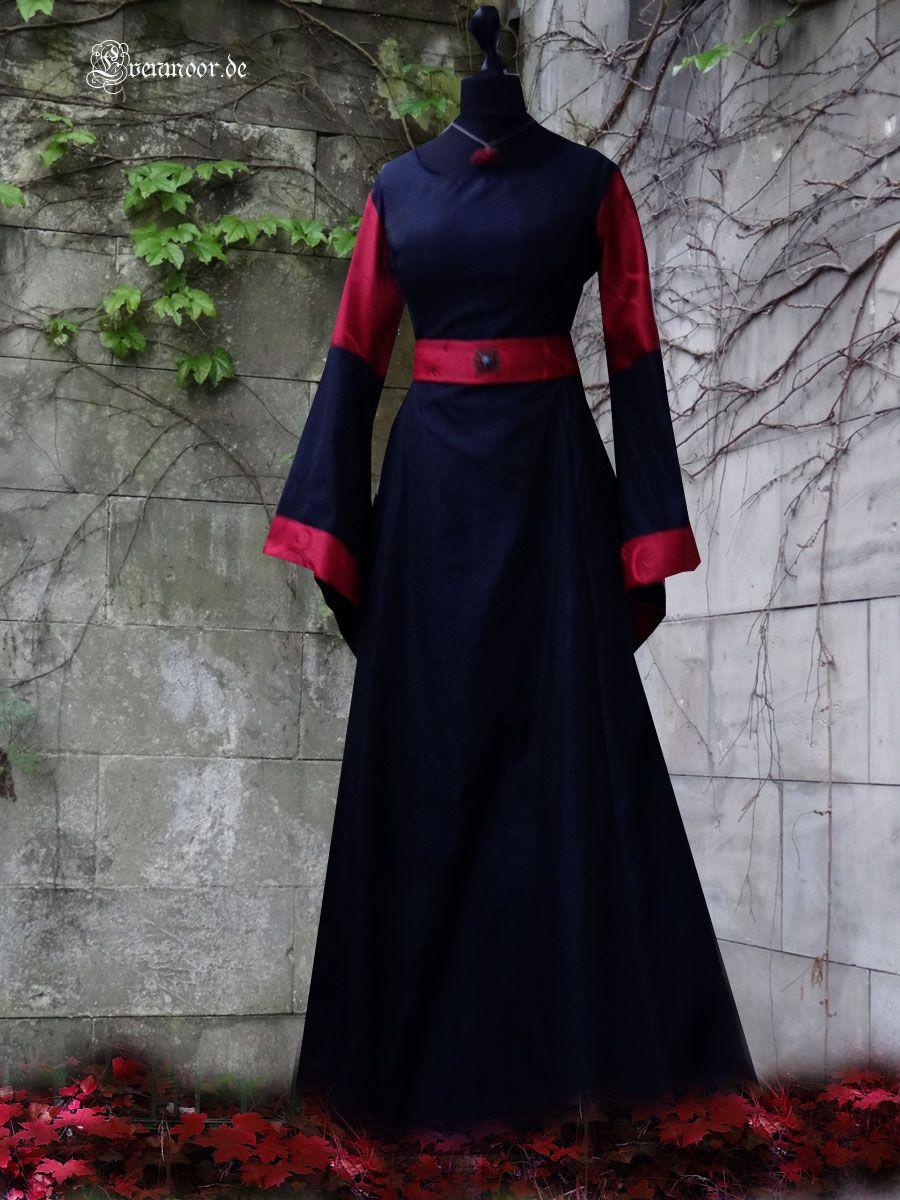 Mittelalter Kleid Dunkelblauer Taft Blutroter Brokat Brautkleid Hochzeitskleid Mittelalter Kleid Kleider Kleid Selber Nahen