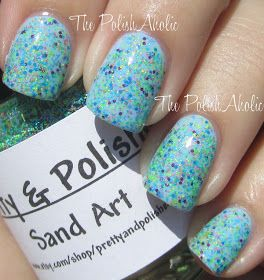 The PolishAholic: Pretty & Polished Sand Art