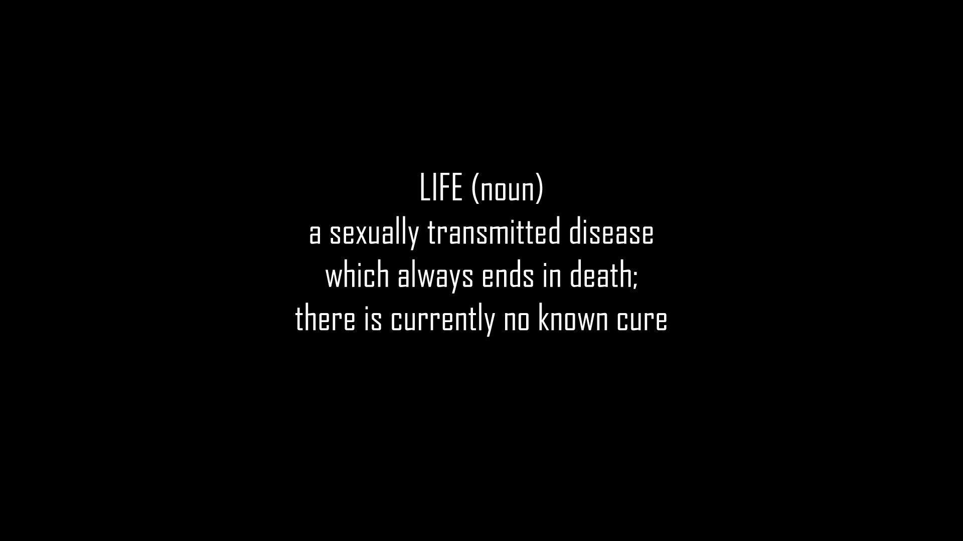 Quotes Words Minimalism Life Black Background