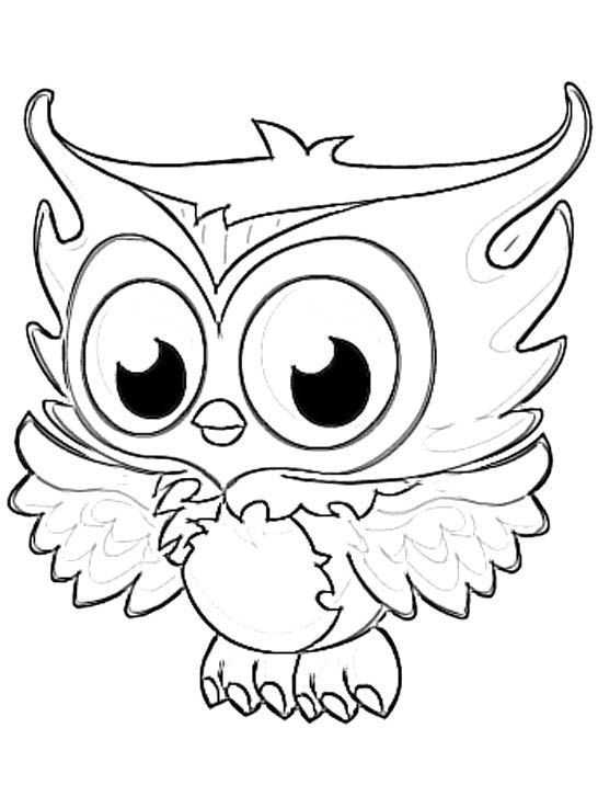 owl coloring pages printable 02 - Owl Color Page