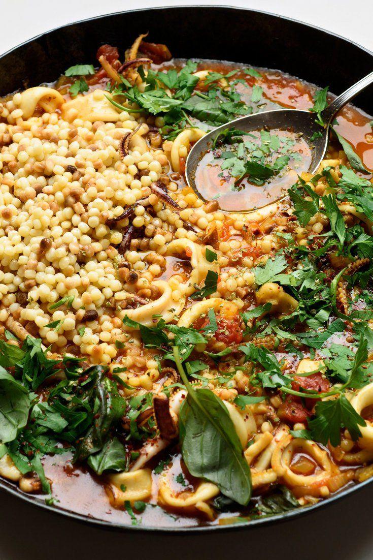 Spicy Calamari With Fregola Recipe Recipe Nyt cooking