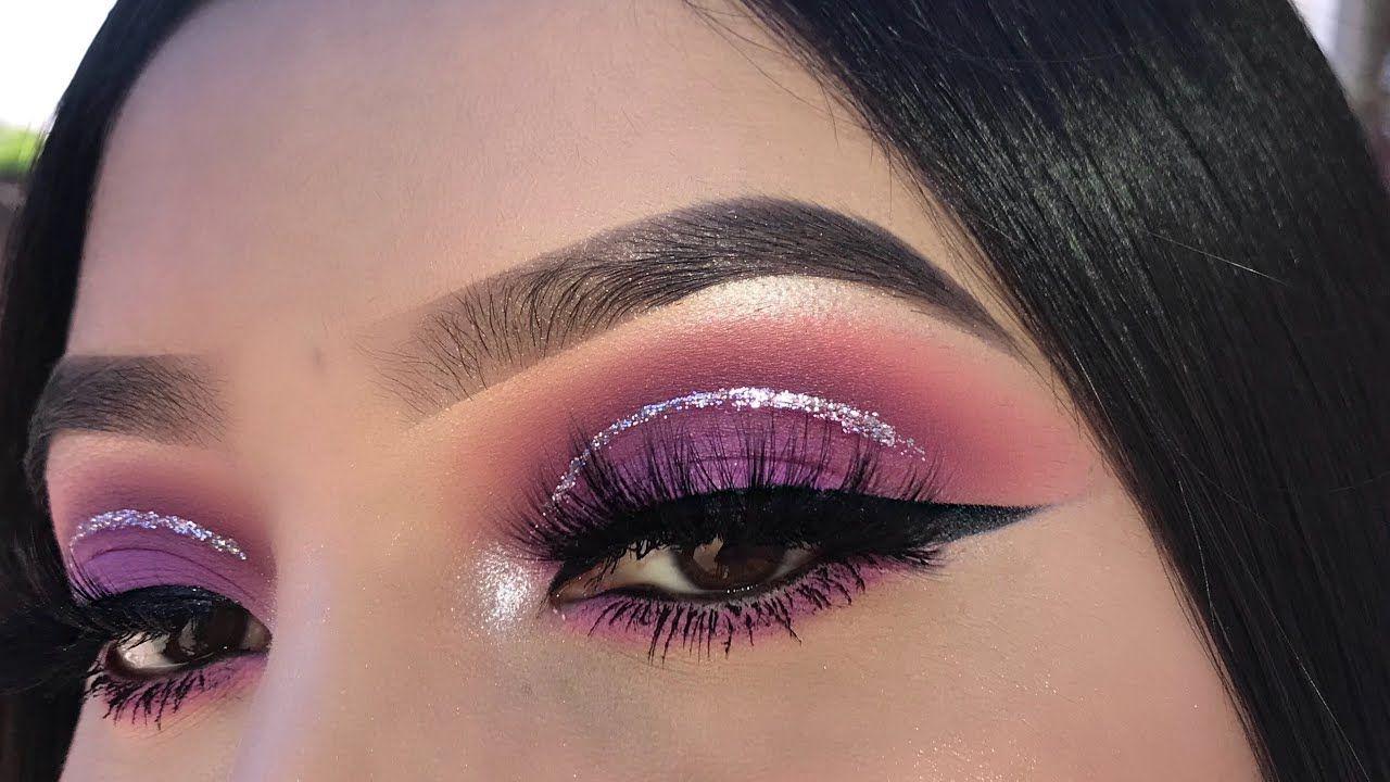 Purple Glitter Eyeshadow Tutorial Glitter Eyeshadow Tutorial Prom Makeup For Brown Eyes Glitter Eyeshadow [ 720 x 1280 Pixel ]