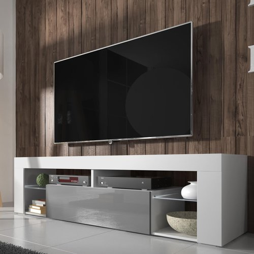 Hugo Tv Stand For Tvs Up To 50 Selsey Living Colour White Matte Grey Gloss Tv Stand White Tv Stands Tv Set Up