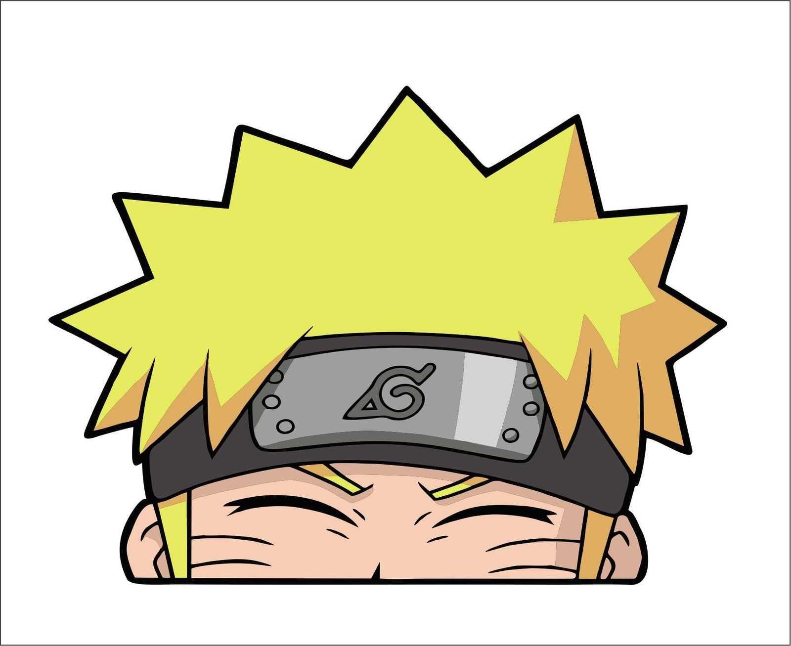 Naruto Smiling Peeker Peeking Peeker Window Vinyl Decal Sticker Anime Jdm Anime Chibi Anime Stickers Anime Printables [ 1307 x 1600 Pixel ]