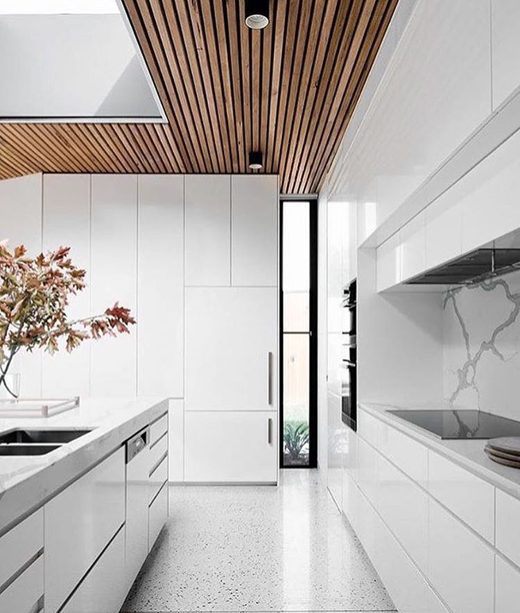 White Kitchen Cabinets Light Floor: Kitchen: White Cabinets, Marble Benchtops, Marble