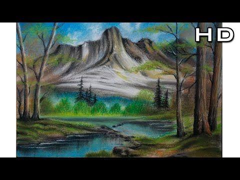 Como Dibujar Un Paisaje Al Pastel Paso A Paso Aprender A Colorear Arboles Y Montanas Facil Tutorial Youtube Paisajes Dibujos Paisajes Como Dibujar