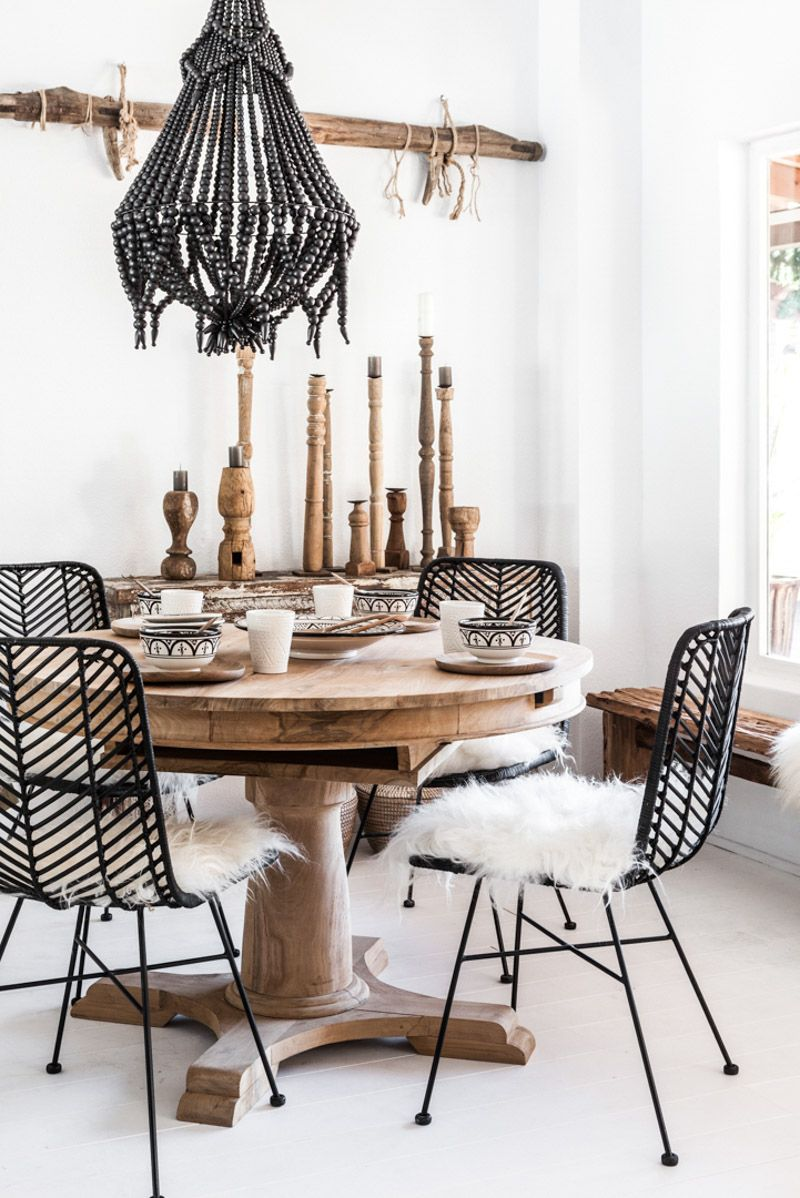 rattan dining chair black zoco home boho dining room dinning room decor chic dining room on boho chic kitchen table id=98872