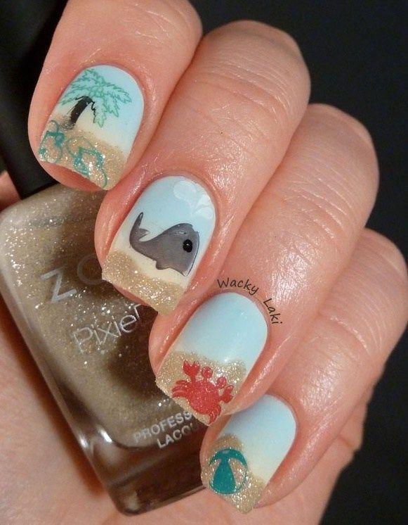 179e1c6cf5 Beach-Inspired Nails That Are Sizzlin' For Summer | Pedi | Beach ...