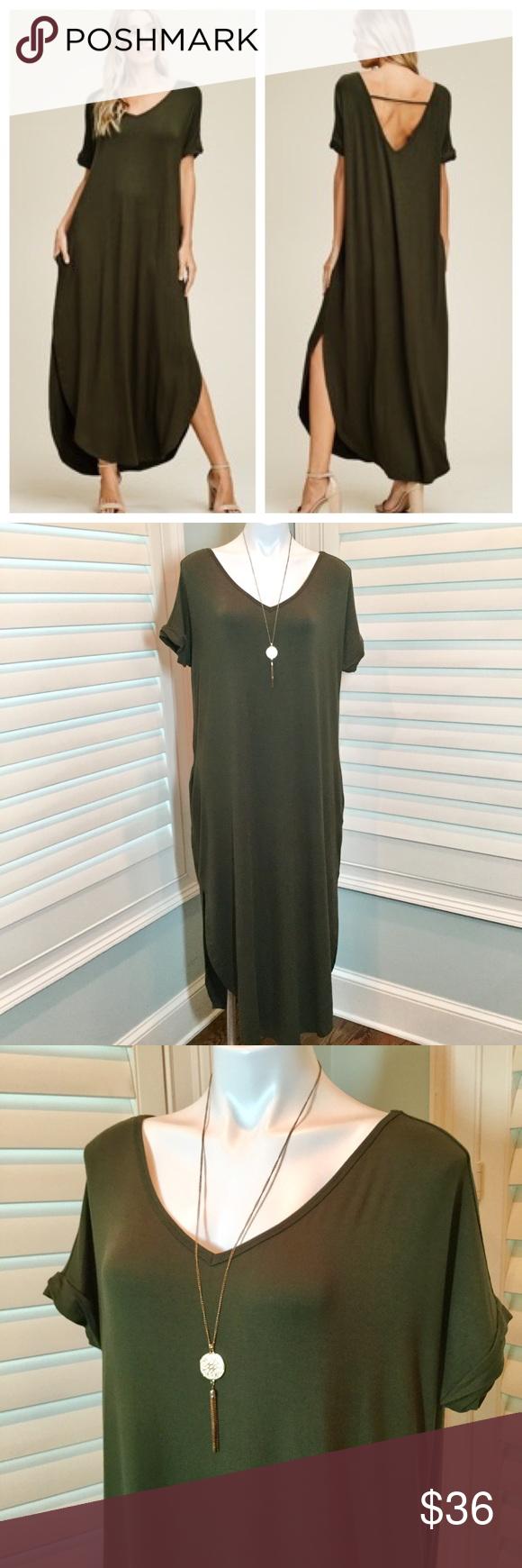 Sold Olive Oversized T Shirt Maxi Dress L Maxi Shirt Dress Clothes Design Oversized Tshirt [ 1740 x 580 Pixel ]