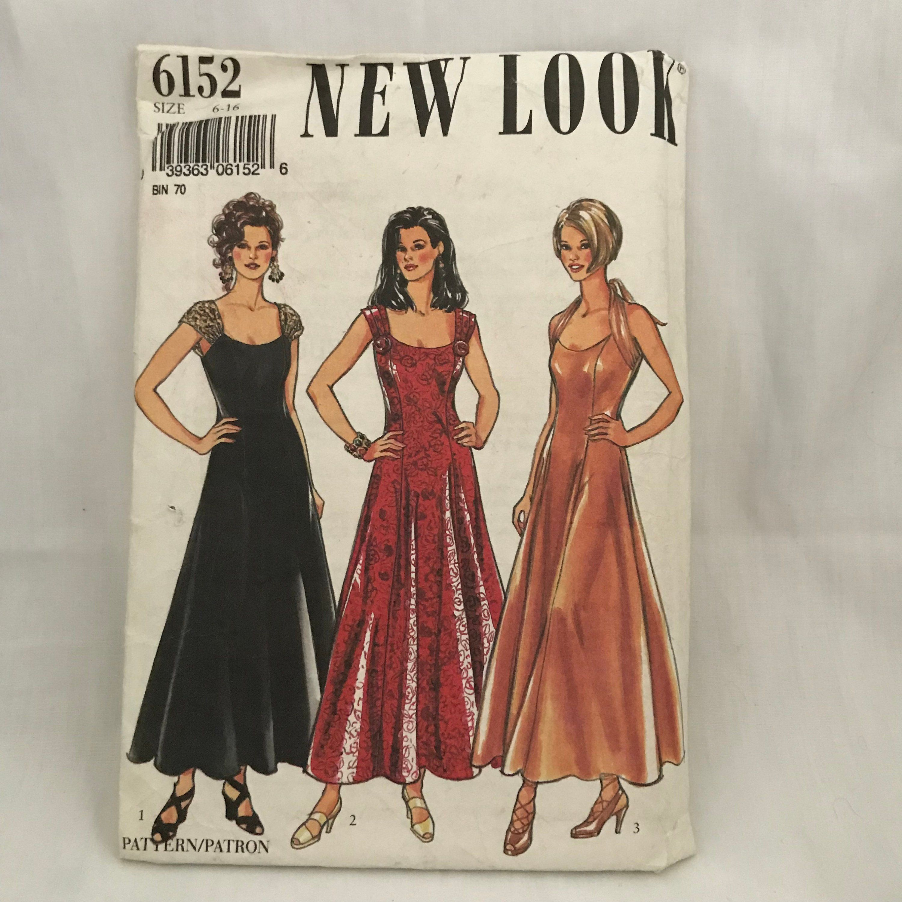 New look womens evening dress sewing pattern sewing patterns