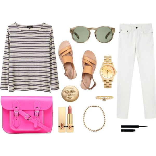 A fashion look featuring long sleeve t shirts, Proenza Schouler and flat sandals. Browse and shop related looks.