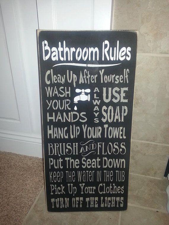 Primitive Bathroom Rules Sign Bathroom Rules Sign Primitive Bathrooms Bathroom Rules