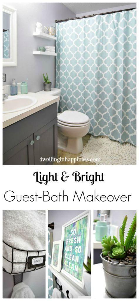 Light Bright Guest Bathroom Makeover The Reveal Interior Delectable Budget Bathroom Renovation Ideas Exterior