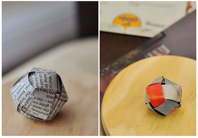 How to Weave a Paper Ball Ornament Gallery