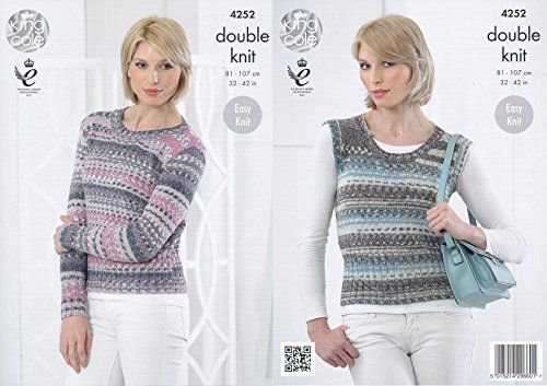 King Cole Ladies Double Knitting Pattern Womens Ribbed Detail