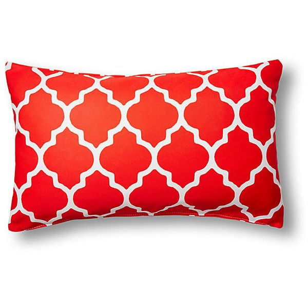 Sonoma 14x24 Outdoor Pillow Red Decorative Pillows ($35) ❤ liked on Polyvore featuring home, outdoors, outdoor decor, red outdoor pillows and red outdoor throw pillows